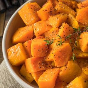Roasted winter squash | Diabetes dessert recipe